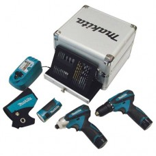 Kit Makita con trapano avvitatore torcia e accessori